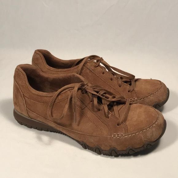Skechers Bikers Memory Foam Brown Shoes Women 8.5